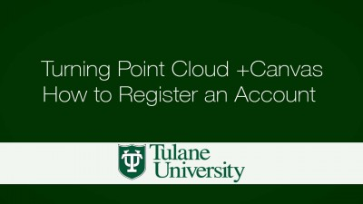 Turning Point Cloud +Canvas - How to Register an Account
